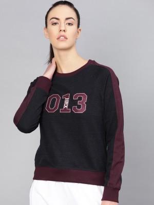 HRX by Hrithik Roshan Full Sleeve Self Design Women Sweatshirt