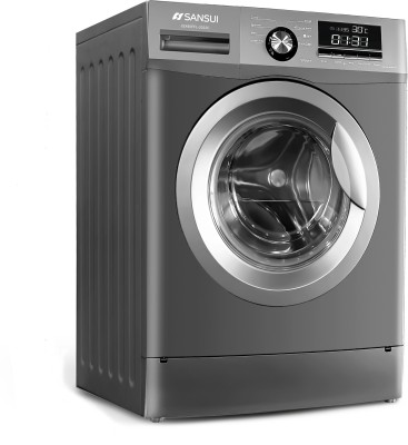 Sansui 7 kg Fully Automatic Front Load with In-built Heater Grey(JSX70FFL-2022C)