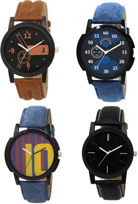 Heeva 1251-Men Creative Desing 4 Pice Combo Analog Watch For Men For-Men Analog Watch  - For Men