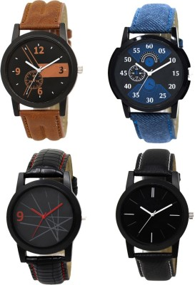 Heeva 1258-Most Selling Black Blue Analog Watch For Men For-Men Analog Watch  - For Men