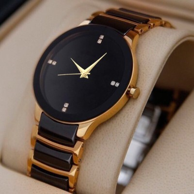 Tmeter Boys And Men New Luxury Designer Attractive Gold Analog Watch  - For Boys