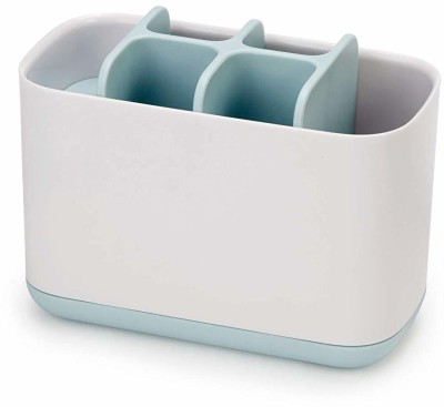 QUICK UNBOX 6 Compartments plastic pen pencil toothbrush shaving kit desk items(White)