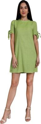 kuber studio Women Shift Light Green Dress
