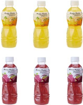 Mogu Mogu Orange and Grape Juice with 25 % Nata De Coco (Pack of 6)(6 x 50 ml)