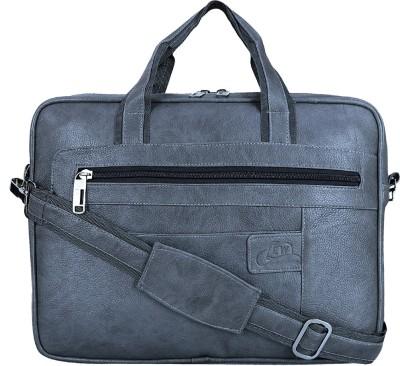 Leatherworld 15 inch Laptop Messenger Bag Grey