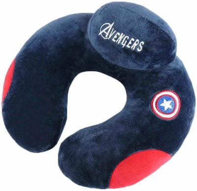 AweStuffs U-Shaped Imported Captain America Neck Pillow for Office Nap Car Airplane Headrest Nursing Travel Neck Cushion Pillows Neck Pillow(Navy Blue)