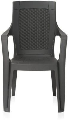 Restomatt Plastic Outdoor Chair(Brown)