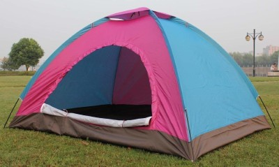 Allenshop Picnic Camping Portable Waterproof Outdoor Tent for 6 Person Tent - For 6 Persons(Pink)