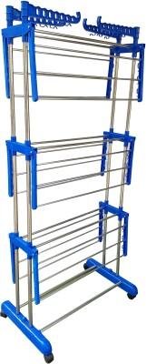 SUNDEX Steel Floor Cloth Dryer Stand CROME PLATED STEEL PIPE – 004(3 Tier)