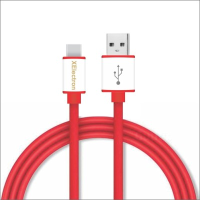 XElectron C Type 1 m USB Type C Cable Compatible with Mobile, Red, One Cable XElectron Mobile Cables