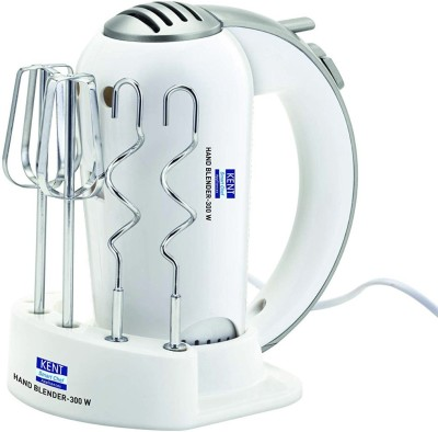 Kent 16051 300 W Hand Blender, Stand Mixer, Chopper(White)
