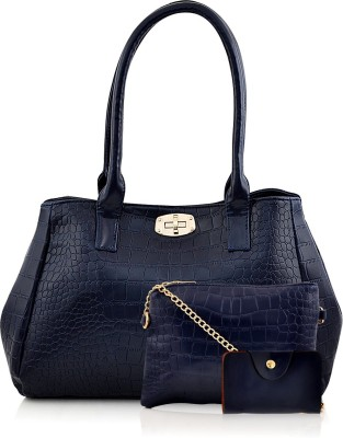 Mark & Keith Women Blue Hand-held Bag