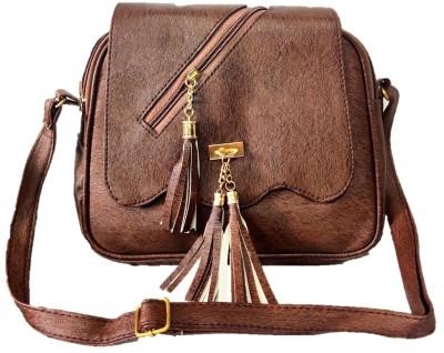 style bits Women Brown Sling Bag