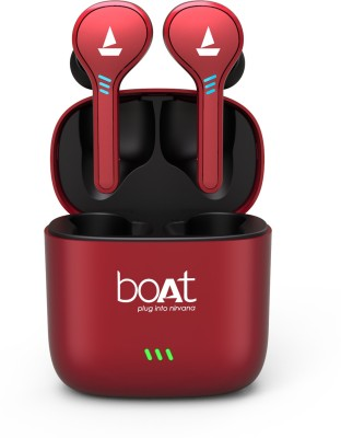 boAt Airdopes 431 True Wireless Bluetooth Headset(Red, True Wireless)