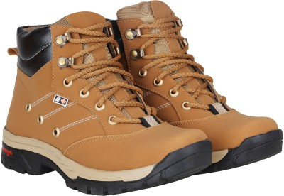 Kraasa Climber Boots For Men(Beige)