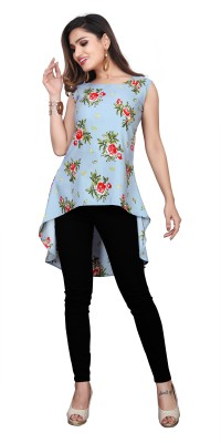 GS.FASHION Party Bell Sleeve Printed Women Multicolor Top