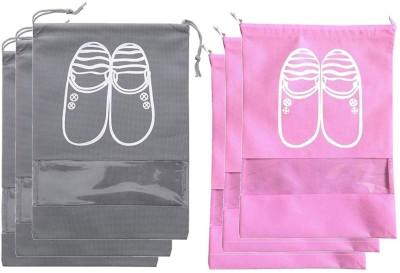 Lify Shoe Pouch(Pink, Grey)