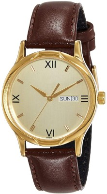FASHION POOL UNIQUE GOLD BROWN ROMAN DIAL DATE & DAY FUNCTION 100% NEW AND HIGH QUALITY PARTY_PROFESSIONAL_DIWALI_FESTIVAL_SPECIAL Analog Watch  - For Women