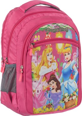 RS Famous 3d Printed School Bag for Girls (2nd to 3rd Class) (Pink) Waterproof School Bag(Pink, 23 L)