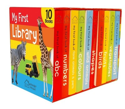 My First Library - Boxset of 10 Board Books(English, Board book, Wonder House Books)