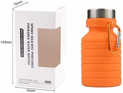 shivam enterprises collapsable bottle 550 ml Bottle(Pack of 1, Blue, Orange, Purple, Clay)