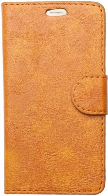 HEAVIN Flip Cover for Karbonn A7 Star(Gold, Dual Protection)