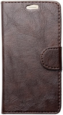 HEAVIN Flip Cover for Karbonn A7 Star(Brown, Dual Protection)