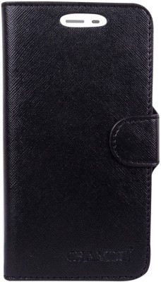 HEAVIN Flip Cover for Karbonn Quattro L55 HD(Black, Dual Protection)