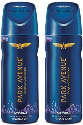 PARK AVENUE Original Deo Storm Deodorant Spray  -  For Men & Women(150 ml, Pack of 2)