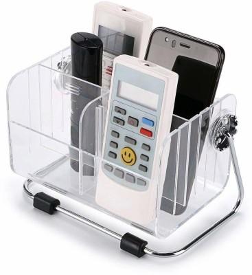 vruta 6 Compartments Acrylic remote stand(White)