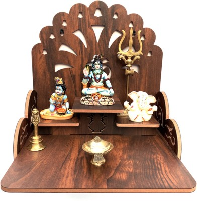 7CR Engineered Wood Home Temple(Height: 28 cm)