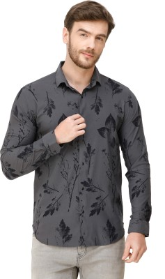 Colvyn Harris Men Floral Print Casual Grey Shirt