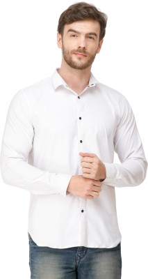 Colvyn Harris Men Solid Casual White Shirt
