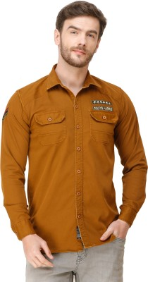 Colvyn Harris Men Solid Casual Brown Shirt