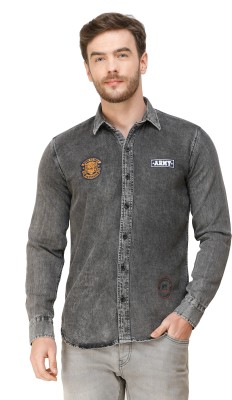 Colvyn Harris Men Solid Casual Grey Shirt