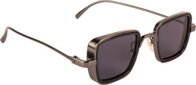 Farenheit Rectangular Sunglasses(Grey)