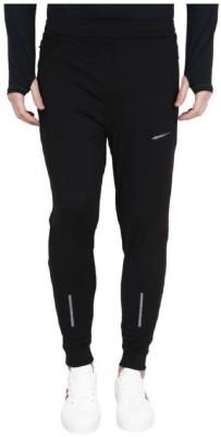 FITNICK Solid Men Black Track Pants