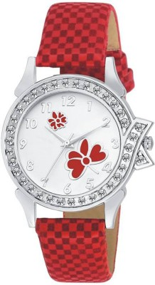 MEET Red Butterfly Fancy watch Premium Quality Fancy watch For Women Analog Watch  - For Girls