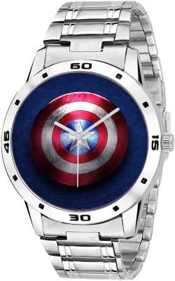 Heeva Captain Americas Fan Stainless Steel Starp Fancy watch UNIQUE LOOK Analog Watch  - For Men