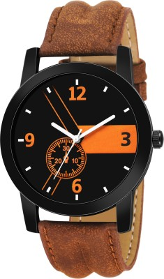 Heeva LR-01 Brown Leather Strap Sporty Designer Fast Selling Super Premium Quality Collection Analog Watch  - For Men