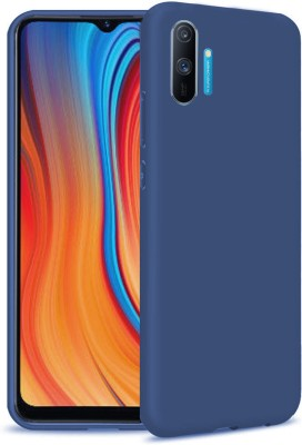 CEDO XPRO Back Cover for All Side Rubberised Matte Soft Silicon Flexible Cover Realme C3(Blue, Dual Protection)