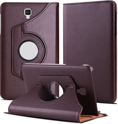 TGK Book Cover for Samsung Galaxy Tab A 8 inch 2017 [Model SM- T380 / T385] 360 Degree Rotating Leather Smart Case(Brown, Cases with Holder)
