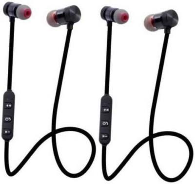 N2B MAGNET-02 PACK OF 2 Bluetooth Headset(Black, True Wireless)