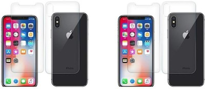 MudShi Front and Back Screen Guard for Apple iPhone XS(Pack of 4)