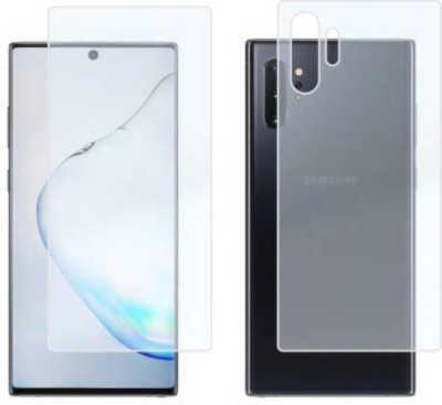 RUNEECH Front and Back Tempered Glass for Samsung galaxy note 10 lite(Pack of 2)
