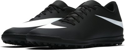 Nike BRAVATA II TF SS 19 Football Shoes For Men(Black, White)