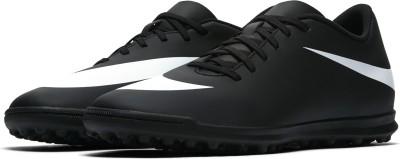Nike NIKE BRAVATA II TF Football Shoes For Men(Black, White) 1