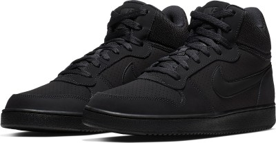 Nike COURT BOROUGH MID Sneakers For Men(Black) 1
