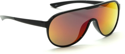 IDEE Aviator, Wrap-around Sunglasses(Red, Yellow)