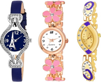 Heeva Newly Arrival Premium Qualiity New Arrival Unique Diamond Bracelet Multicolor Dial-130495 Analog Watch  - For Girls